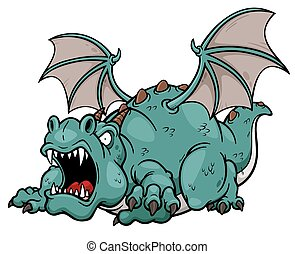 Dragon - Vector illustration of cartoon dragon