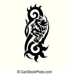 dragon vector tattoo