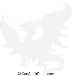 dragon., vettore, medievale