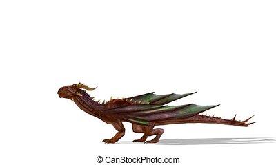 Dragon - 3D CG rendering of a dragon.