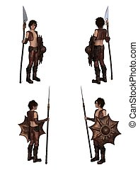 Dragon Warrior Boy Character Set