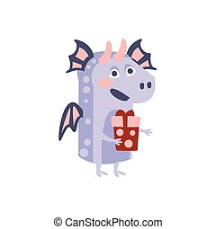 Dragon With Party Attributes Girly Stylized Funky Sticker