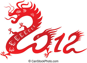 Dragon year 2012. Chinese zodiac - Chinese dragon. Symbol of...