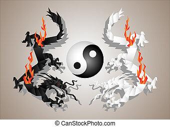 dragones, yang, yin