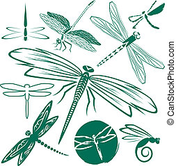 Dragonfly Collection - Clip art collection of various...