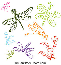 Dragonfly Drawing Set