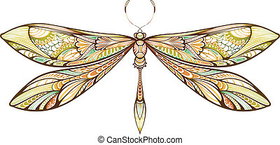 Illustration of abstract dragonfly.