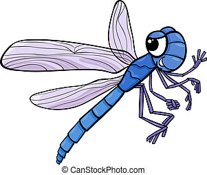 dragonfly insect cartoon illustration
