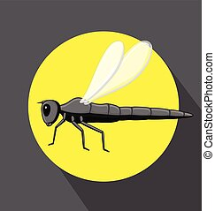 Dragonfly Insect Flying Vector Illustration