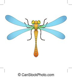 Dragonfly. Isolated object. Vector Image. - Dragonfly....