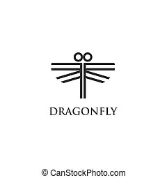 dragonfly logo vector for your company or brand