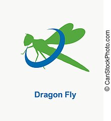 Dragonfly Logo Vector Illustration