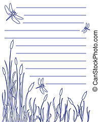 Dragonfly notepad - Design for a note pad of dragonflies...