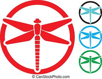 dragonfly sign (dragonfly symbol, dragonfly design)