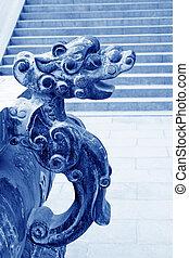 dragon's, cabeza, imagen, en, hornilla del incienso