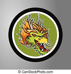Dragons Circle sticker