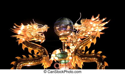 Dragons Encircling Pearl at Chinese Lantern Festival