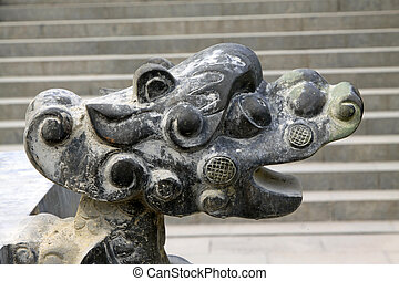 dragon's head image in incense burner