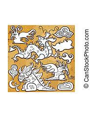 Dragons icon set