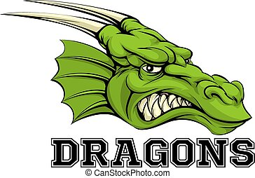 Dragons Mascot - An illustration of a cartoon dragon sports...