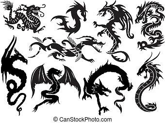 Dragons. Vector illustration for you design