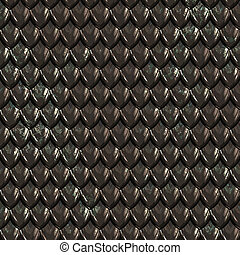 dragonskin - a large image of black shiny dragon scales or...