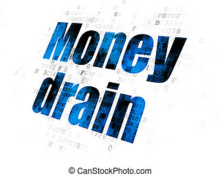drain, argent, banque, fond, numérique, concept: