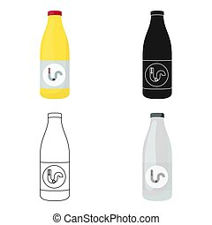 Drain cleaner icon in cartoon style isolated on white...
