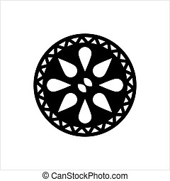 Drain Hole Grille Icon, Sink Grille Icon Vector Art...