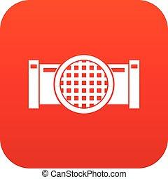 Drain pipe icon digital red