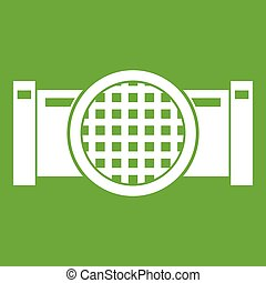 Drain pipe icon green