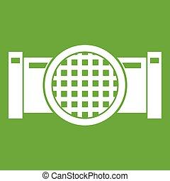Drain pipe icon green