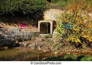 drain river