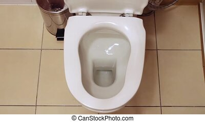 Drain water in the toilet