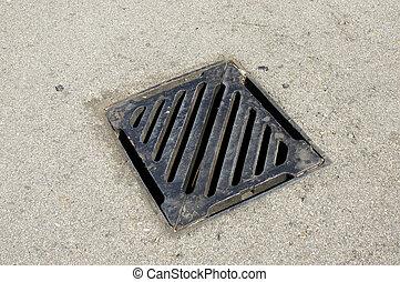 Drainage system the manhole on floor