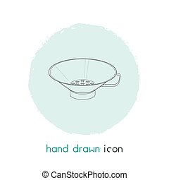 Drainer icon line element. Vector illustration of drainer icon line isolated on clean background for your web mobile app logo design.