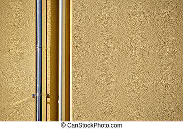Drainpipe Closeup - The close-up of newly laid drainpipe...