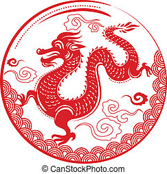 drak, čerstvý, číňan, rok