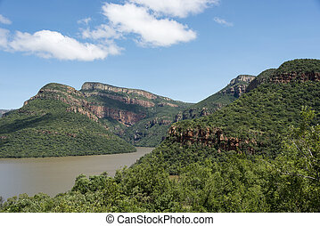 drakensberg, アフリカ, 湖, 南
