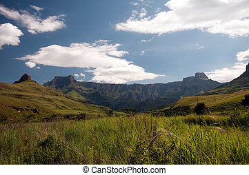 Drakensberg mountains in South A...