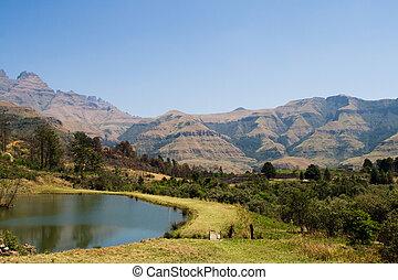 drakensburg, アフリカ, 南