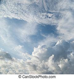 dramático, nuvens