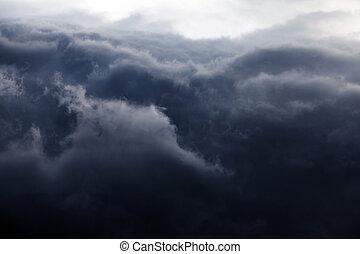 dramático, nuvens, fundo