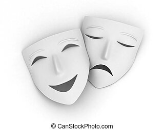 comedy tragedy masks illustrations and clip art 1 712 comedy rh canstockphoto com comedy drama masks clipart Drama Symbols Clip Art