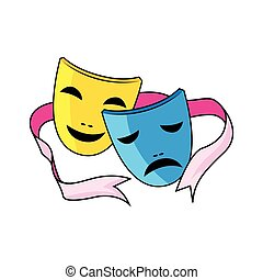 drama, máscara