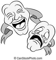 Drama Masks - An image of a set of drama masks with happy ...