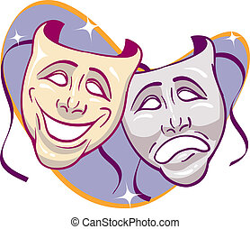 Drama Masks - Drama theatre masks