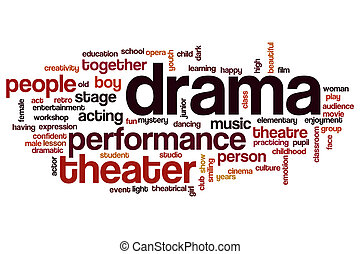 Drama word cloud concept
