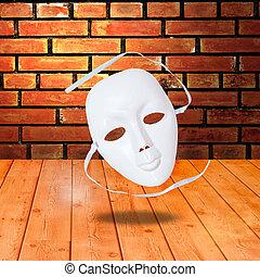 dramat, biały, maski