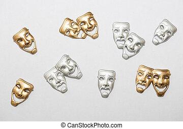 dramat, grek, maski